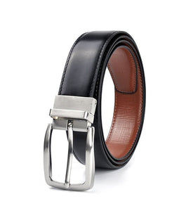 Classic & Versatile Men's Genuine Leather Belt Featuring Reversible Pin Buckle - Haus of Leather