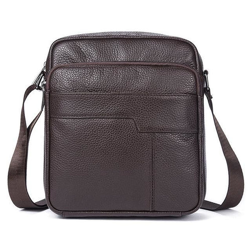 Cross Body Leather Satchel Bag With Strap & Zipper - Haus of Leather