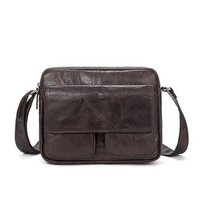 Men's Leather Shoulder Bag With Single Strap & Exterior Flap - Haus of Leather