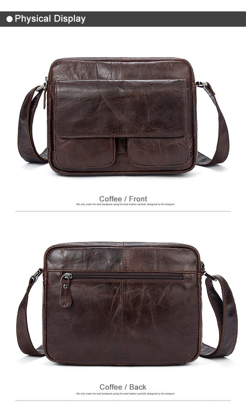 c1cec8b447 ... Men s Leather Shoulder Bag Single Strap   Exterior Flap - Haus of  Leather ...