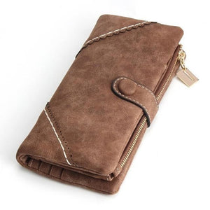 Exquisite Long Women's Leather Purse Featuring Versatile Fold Storage - 8 Colours Available Coffee Purses