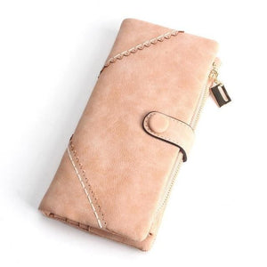 Exquisite Long Women's Leather Purse Featuring Versatile Fold Storage - 8 Colours Available Pink Purses