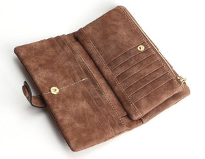 Exquisite Long Women's Leather Purse Featuring Versatile Fold Storage - 8 Colours Available Purses