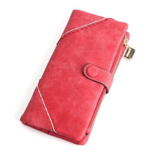 Exquisite Long Women's Leather Purse Featuring Versatile Fold Storage - 8 Colours Available Red Purses