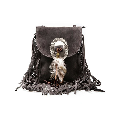 Women's Shoulder Handbag Leather Stylish Tassel - Haus of Leather