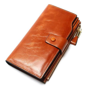 Women's Genuine Leather Long Purse - Haus of Leather