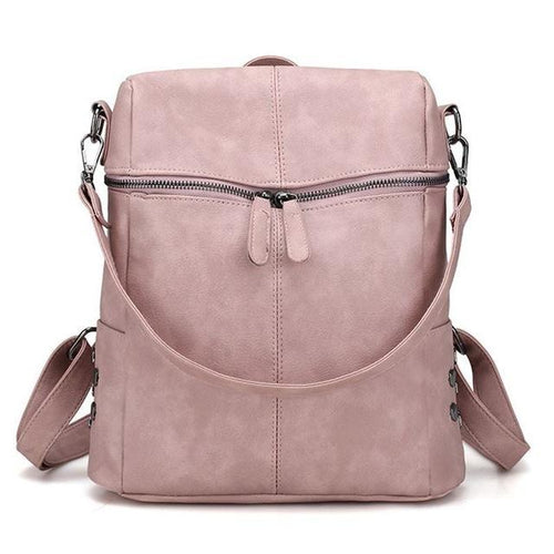 large womens leather handbag pink