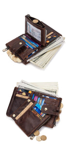 sophisticated men genuine leather wallet intreior