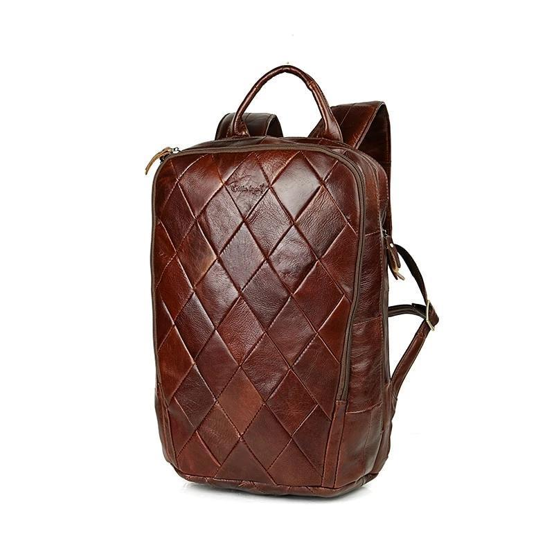 men leather backpack genuine leather