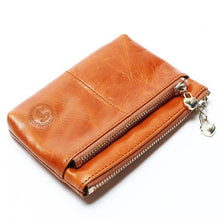 Mini Women's Genuine Leather Wallet With Oil Wax Finish - 7 Colours Available Brown Purses