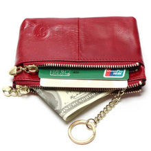 Mini Women's Genuine Leather Wallet With Oil Wax Finish - 7 Colours Available Purses