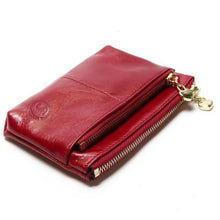 Mini Women's Genuine Leather Wallet With Oil Wax Finish - 7 Colours Available Wine Purses