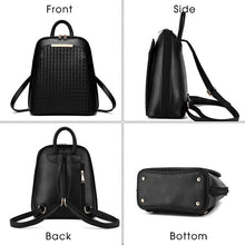 black leather backpack PU leather