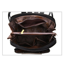 backpack bag women's leather interior