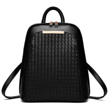 black leather backpack for women PU leather