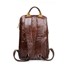 shoulder backpack bag leather men