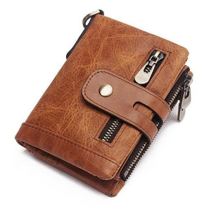 sophisticated men genuine leather wallet brown