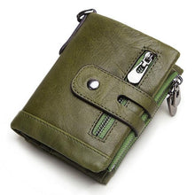 sophisticated men genuine leather wallet green