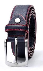 Sophisticated Men's Leather Belt Offering Bold Contrast Stitching - 3 Colours Available - Haus of Leather