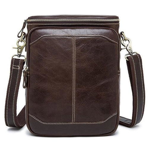 Men's Leather Satchel Bag Genuine Leather & Cross Body Strap - Haus of Leather