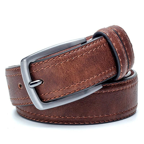 Vintage Men's Luxury Leather Belt Featuring Stylish Double Stitching - 3 Colours Available - Haus of Leather