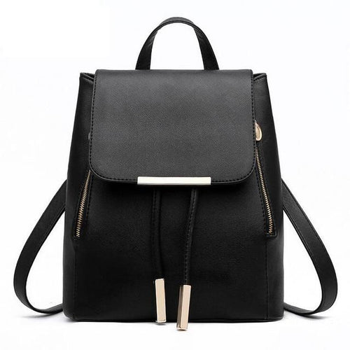 Women's Faux Leather Backpack - Haus of Leather
