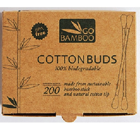 Go Bamboo - Bamboo Cotton Buds 200 pack