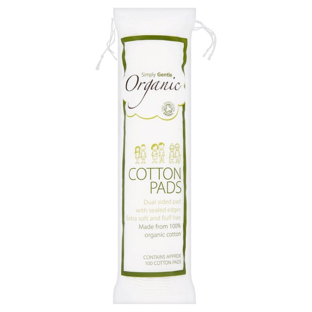 Simply Gentle Organic Cotton Pads – 100