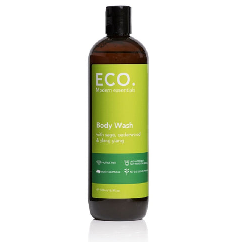 Body Wash with Sage, Cedarwood & Ylang Ylang 500ml