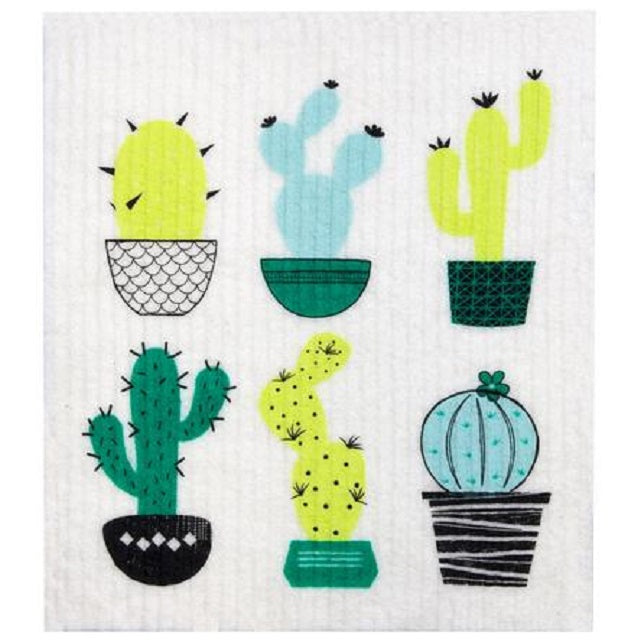 Retro Kitchen 100% Biodegradable Kitchen Sponge - Cactus