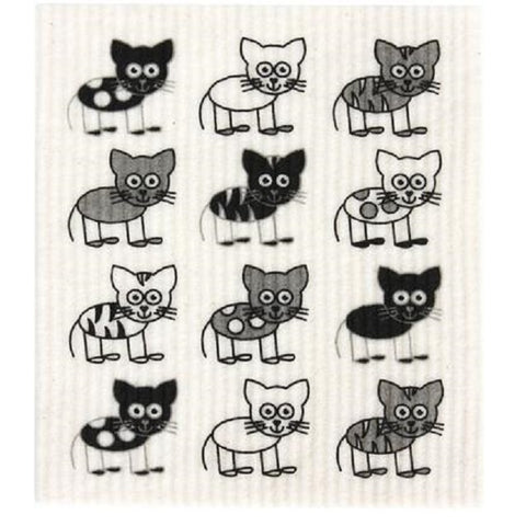 Retro Kitchen 100% Biodegradable Kitchen Sponge - Cats