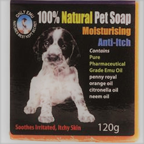 100% Natural Pet Soap Moisturising Anti Itch 120 gm Only Emu