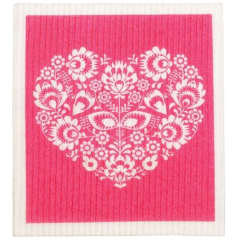 Retro Kitchen 100% Biodegradable Kitchen Sponge - Pink Heart