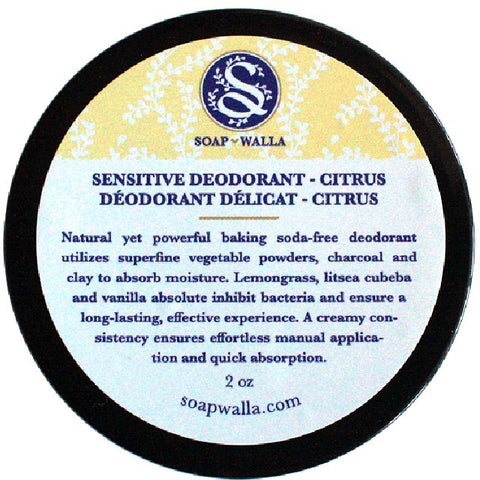 Sensitive Skin Deodorant Cream – Citrus