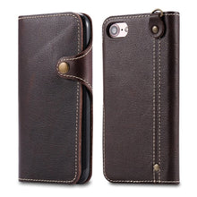Litchi Grain iPhone Wallet Case