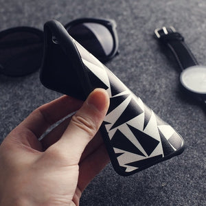 Triangle Splicing Soft Case For iPhone