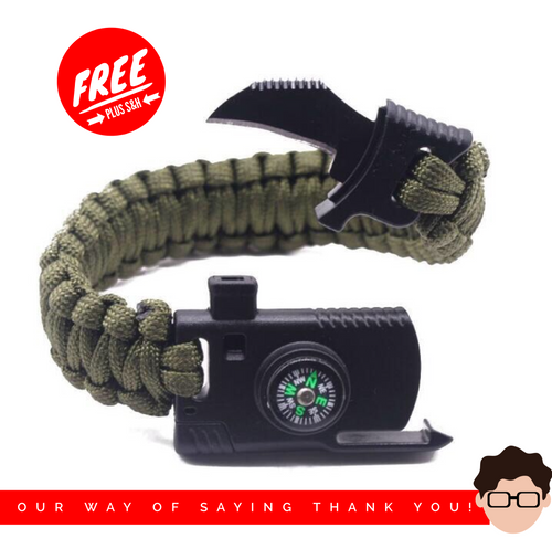 FREE Military Outdoor Paracord Survival Bracelet
