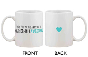 Funny Coffee Mug for Dad - Father-In-Lawesome,
