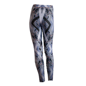 Abstract Geo leggings - Blue