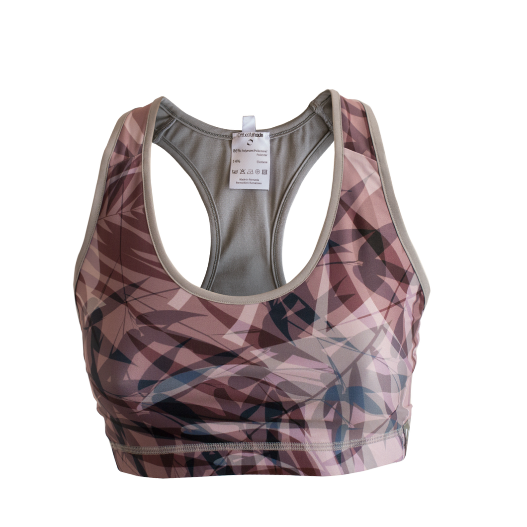 Exotic pastels sports bra