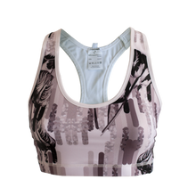 Load image into Gallery viewer, Monochrome tulip sports bra