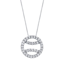 Diamond Tennis Ball Necklace in 18k white gold, large