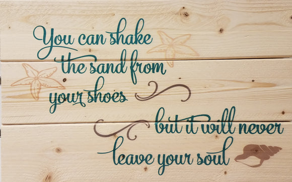 Sand from your shoes