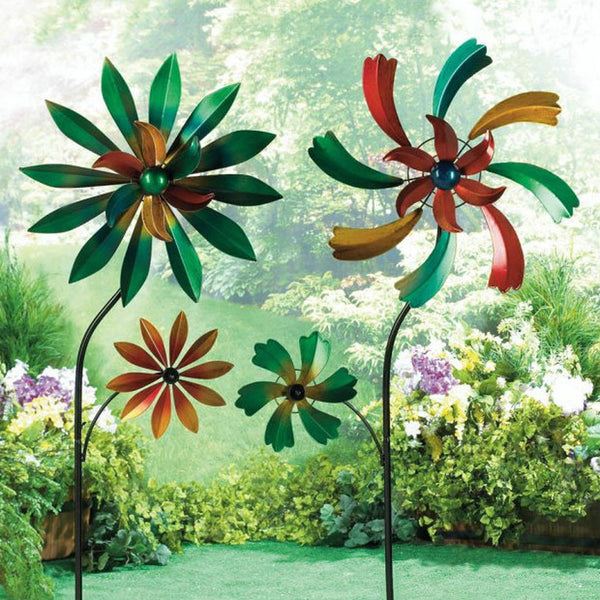 Colorful Flower Garden Spinners