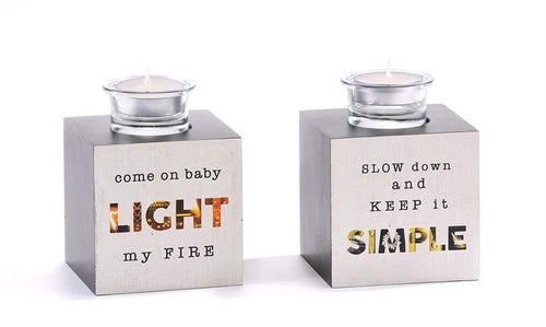 Paper Block Tealight Holders