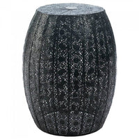 Black Lace Stool