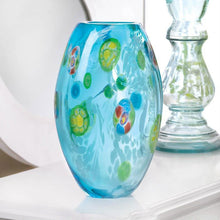 Blue Glass Vase with Flourishes