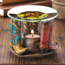 Cowboy Hat and Boots Oil Warmer