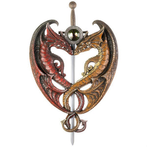 Intertwined Dragons and Sword