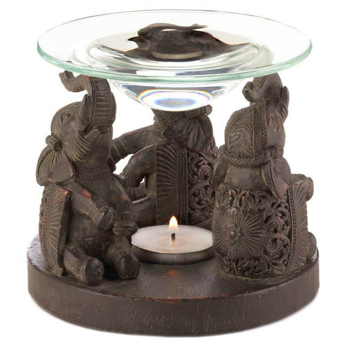 Elephant Trio Oil Warmer